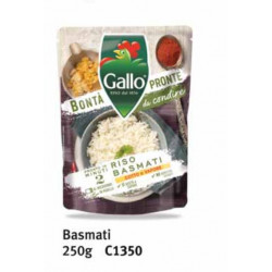 RISO GALLO BONTÀ PRONTE BASMATI 250GR X6