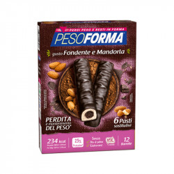 PESOFORMA BARRETTE CUORE MANDORLE 372GX6