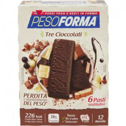 PESOFORMA BARRETTE TRE CIOCC 372GR X6
