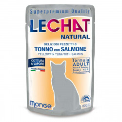 LECHAT NATURAL BUSTE TONNO SALMO 80GRX24