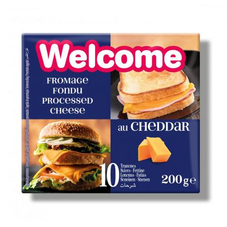 WELCOME FETTE CHEDDAR 200 GR X 22 PZ