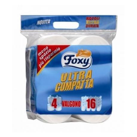 foxy carta igienica  FOXY CARTA IGIENICA ULTRACOMPATTA 4 X 9