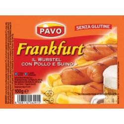 WURSTEL POLLO E SUINO PAVO 100 GR X 35