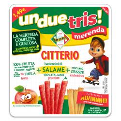 CITTERIO UNDUETRIS MERENDA SALAME 122GX8