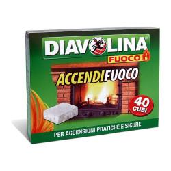 DIAVOLINA ACCENDIFUOCO 40 CUBI X24