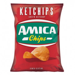 AMICA CHIPS PATATINE KETCHUP 25GR X28